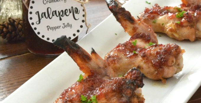 Cranberry Pepper Jelly Sticky Wings + Simple Holiday Planning Hack
