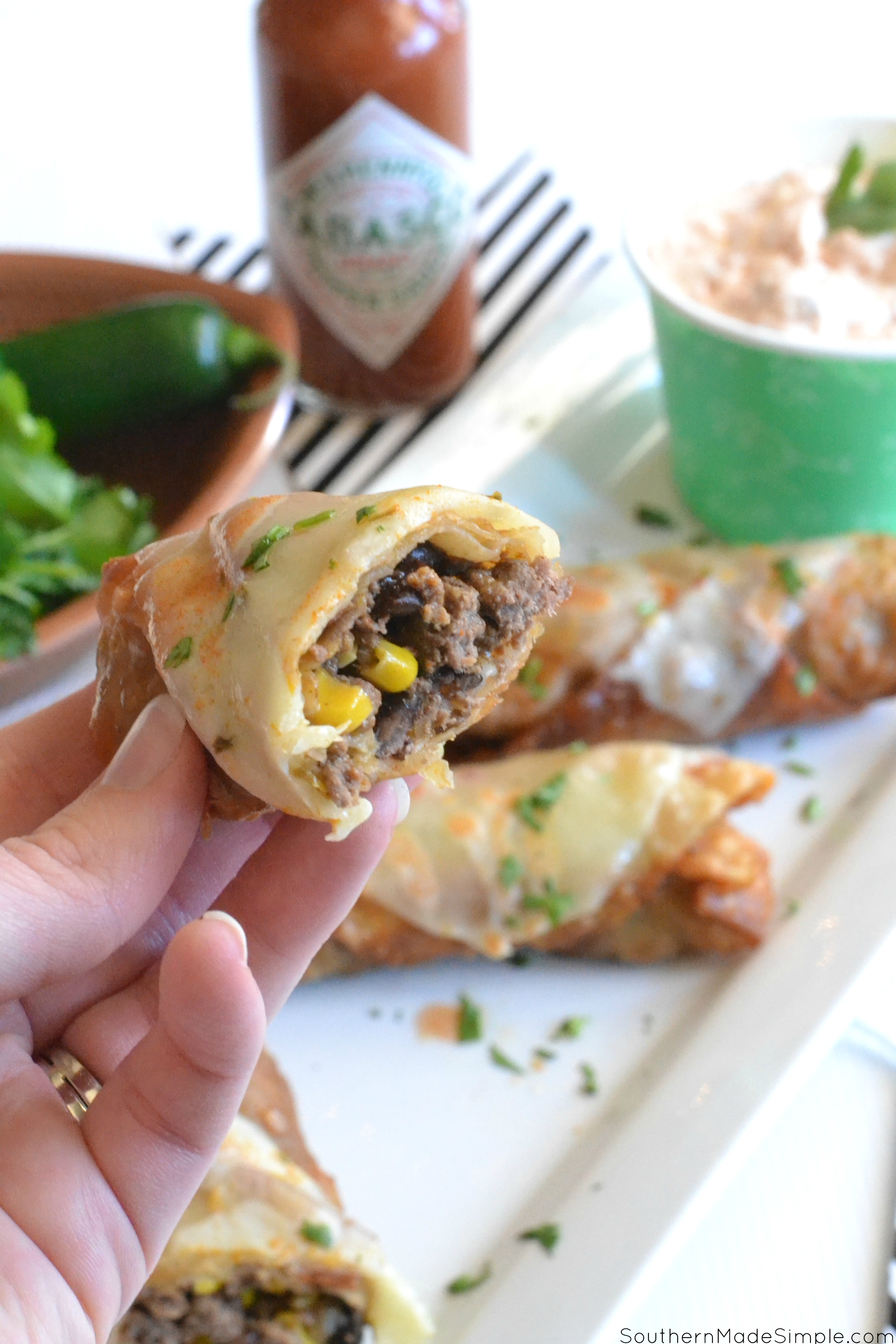 Touchdown Taco Egg Rolls #ad #FlavorYourWorld