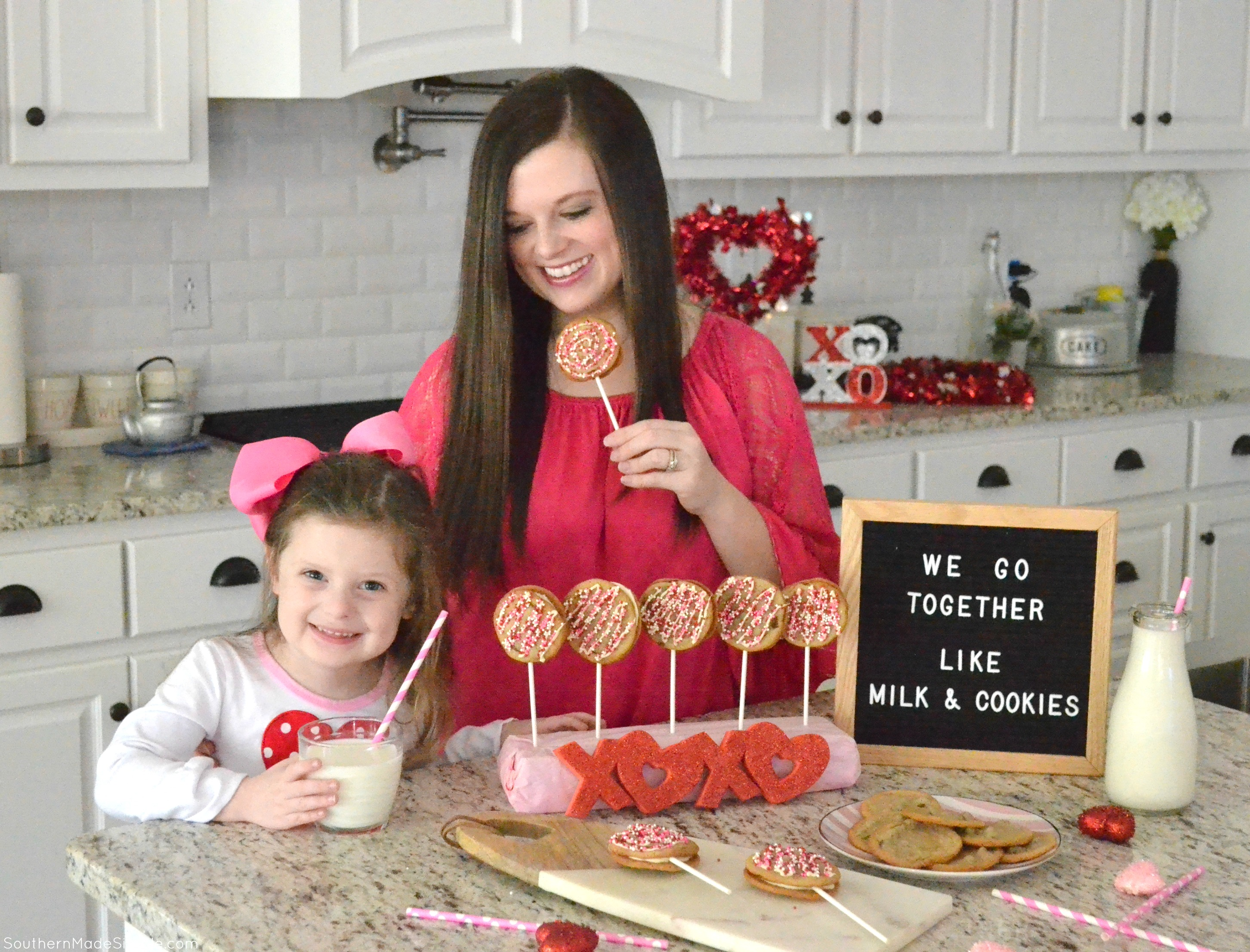 We Go Together Like Milk & Cookies - DIY Chocolate Chip Cookie Pops