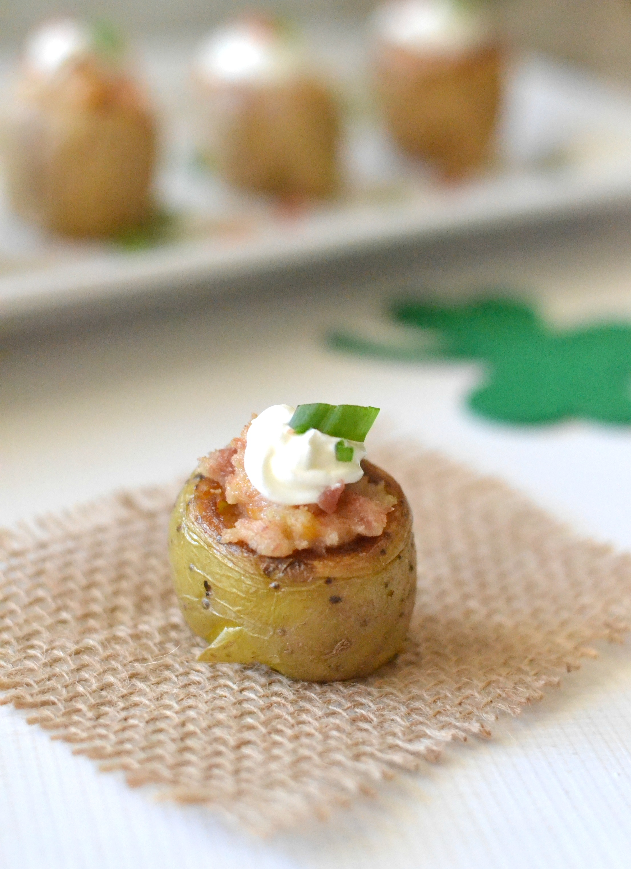 Irish Twice Baked Potato Bites