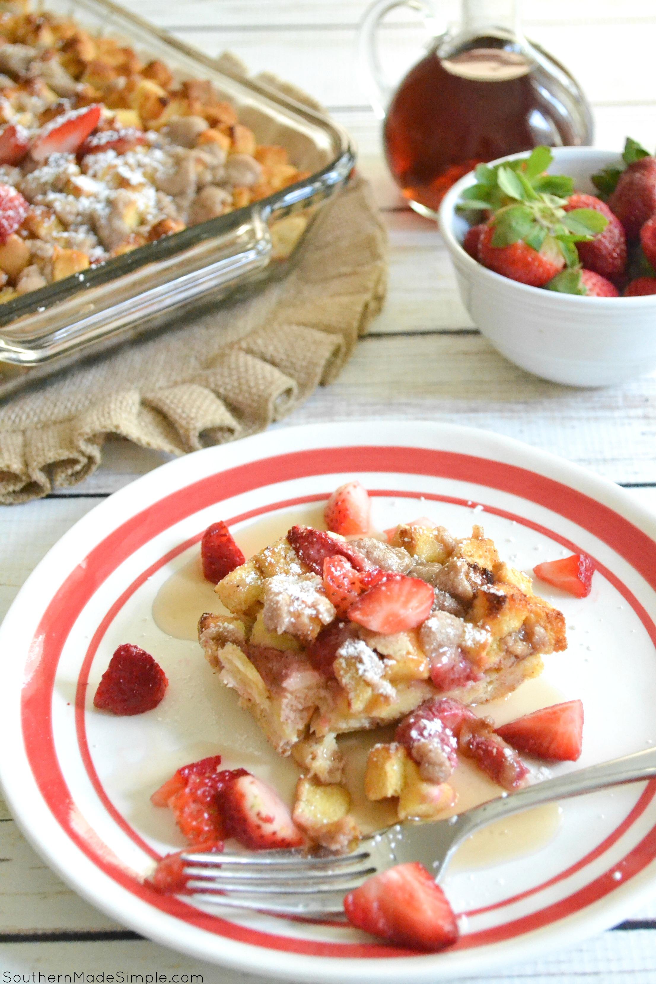 Strawberry French Toast Bake