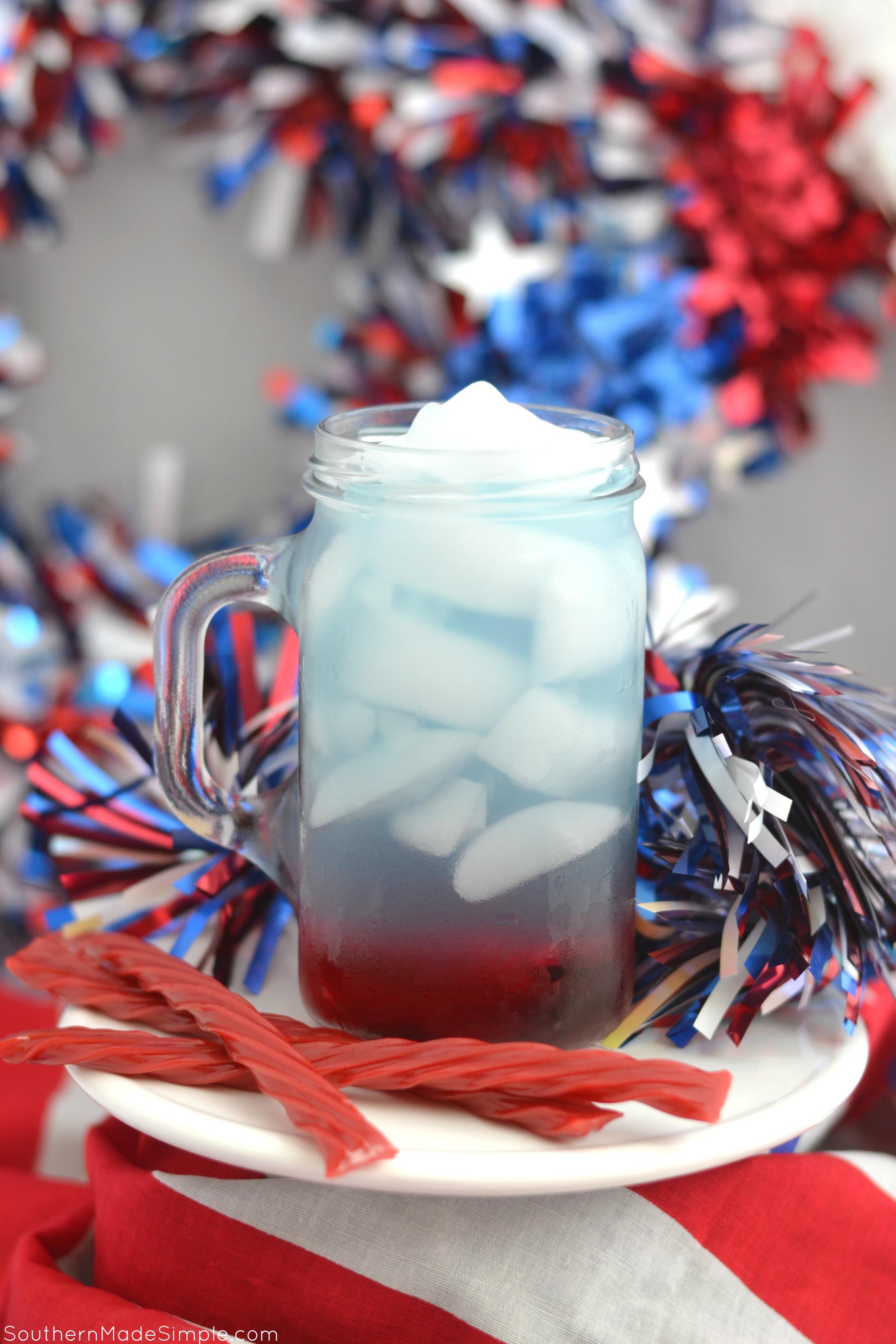 Patriotic Fresh Fruit Pops + Patriotic Fruit Punch