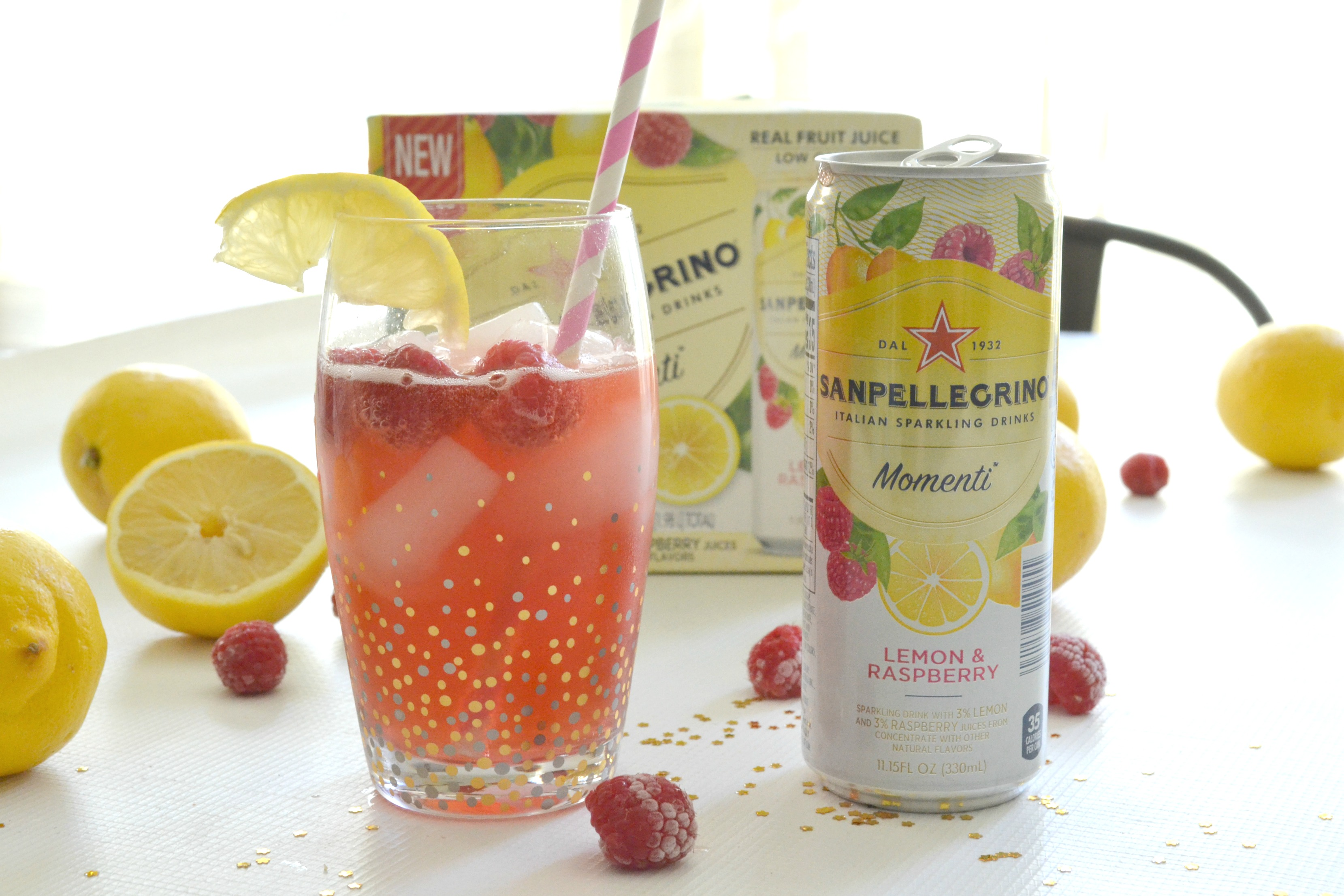 Lemon Raspberry Ice Cream Crumble Bars #MySanPelMomenti #TastefullyItalian