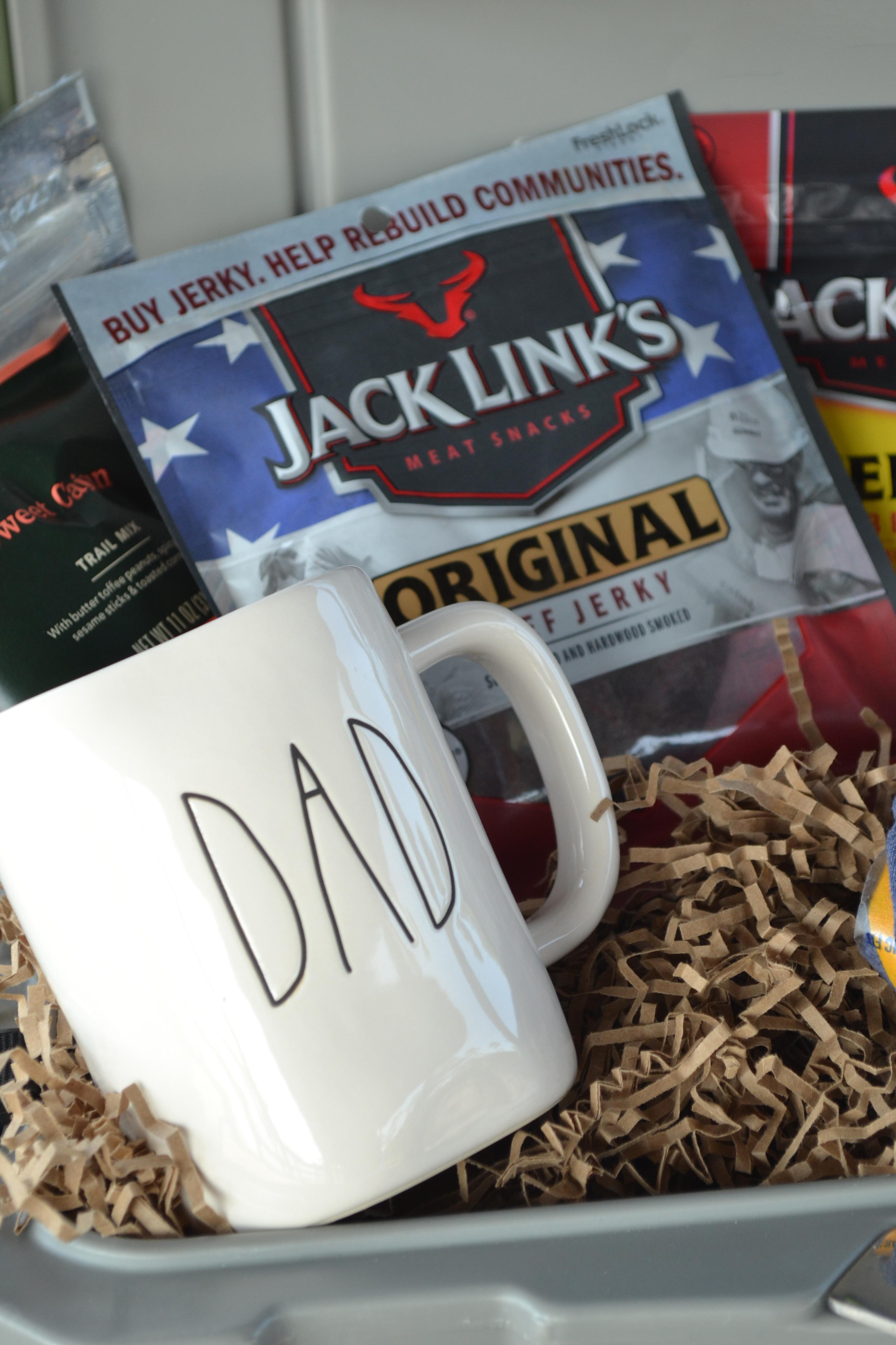 Father's Day Gift Basket for Fishermen #JackLinksDad #ad