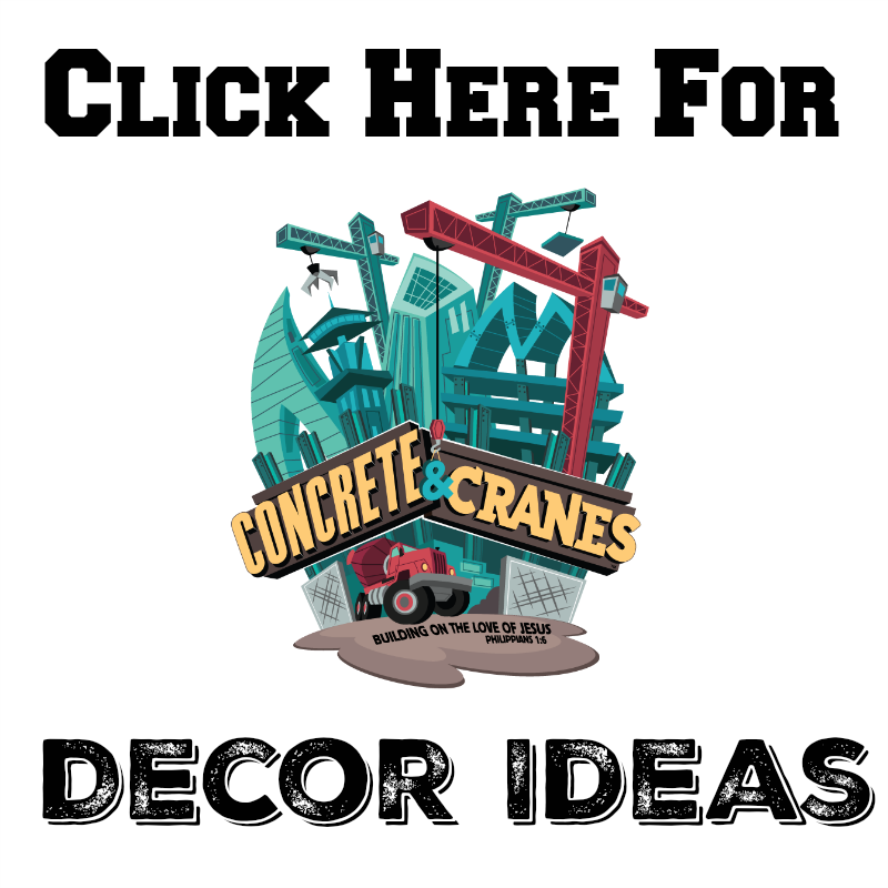 Concrete & Cranes VBS Snack Ideas #ConcreteandCranes #VBS #Construction