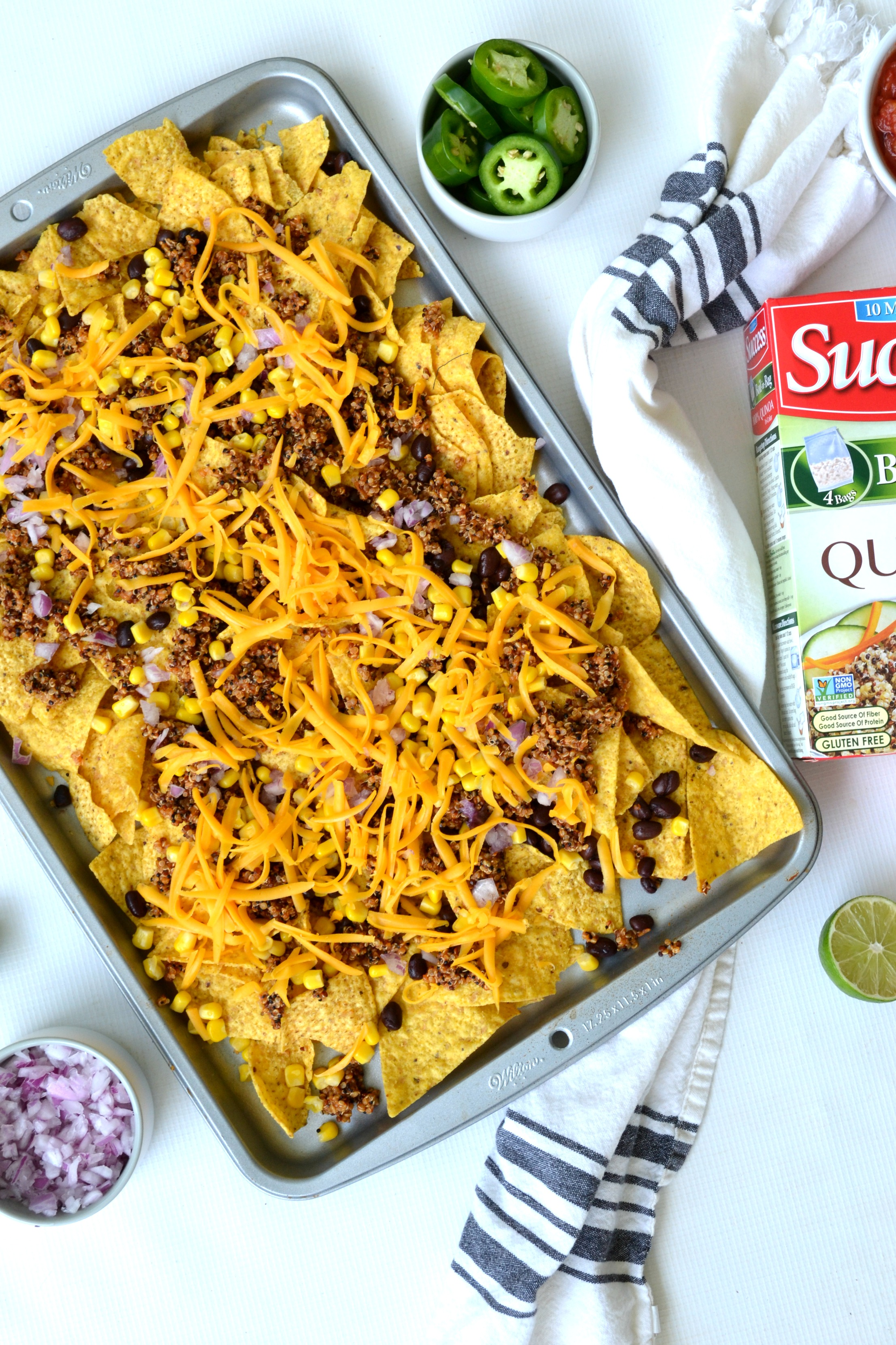Sheet Pan Quinoa Nachos