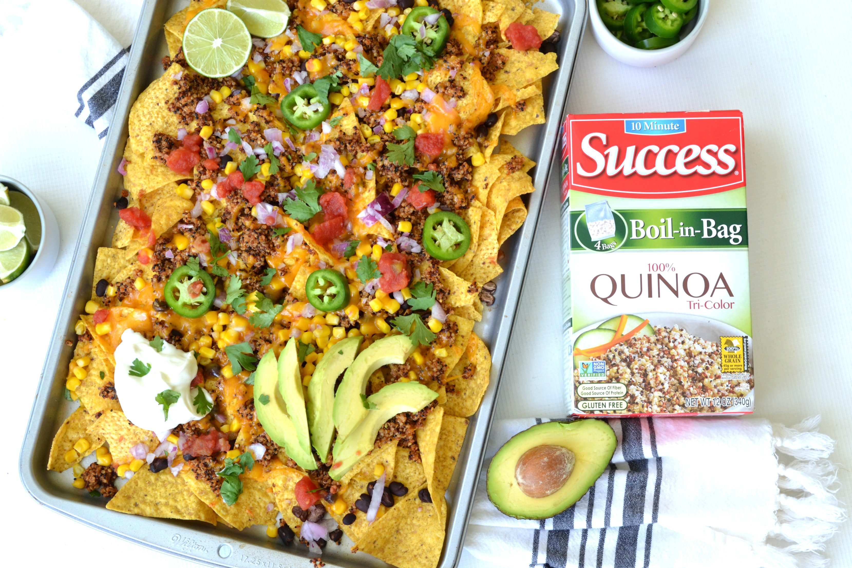 Sheet Pan Quinoa Nachos