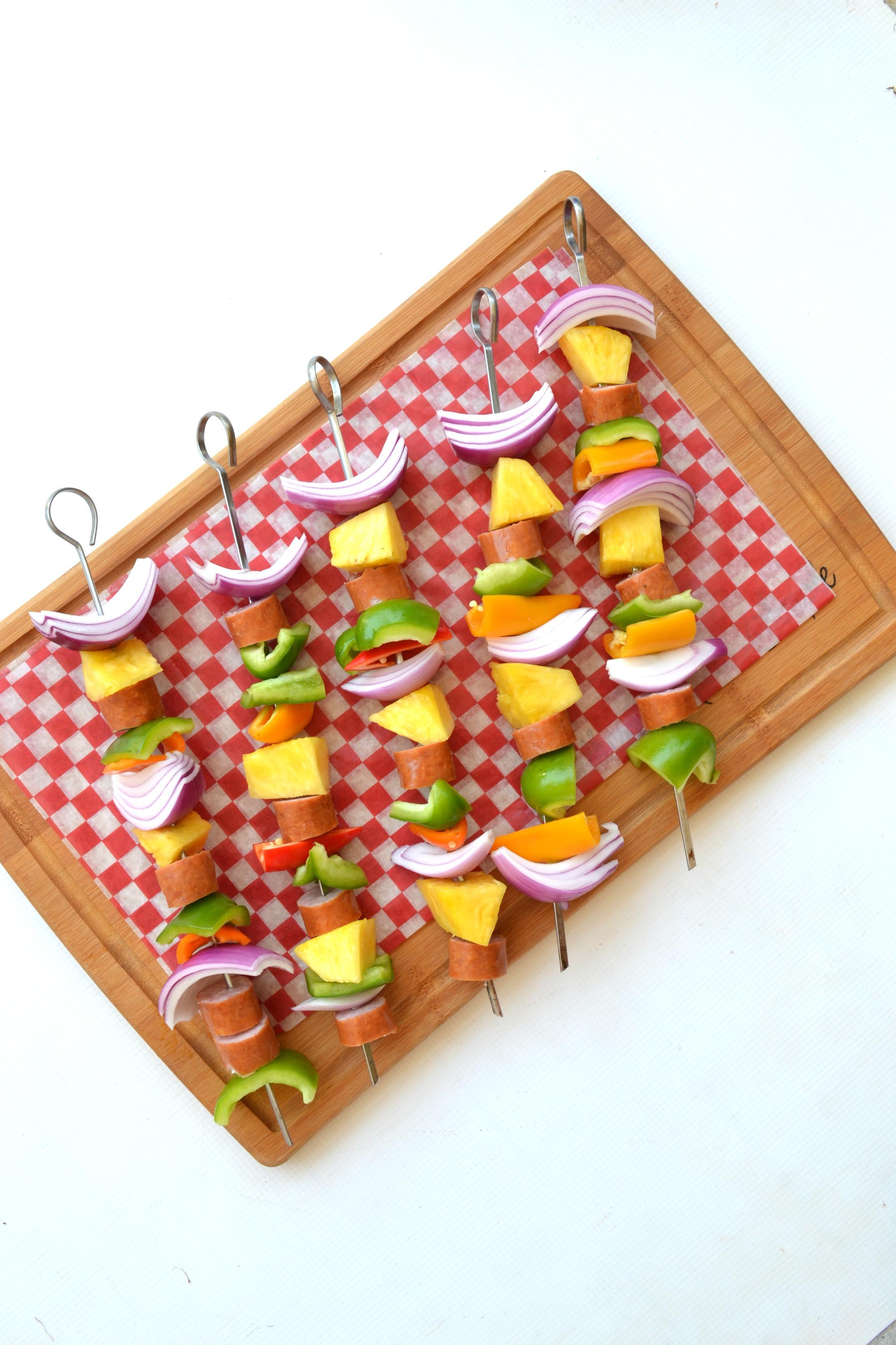 Summer Grilling: Fresh Veggie & Brat Kabobs