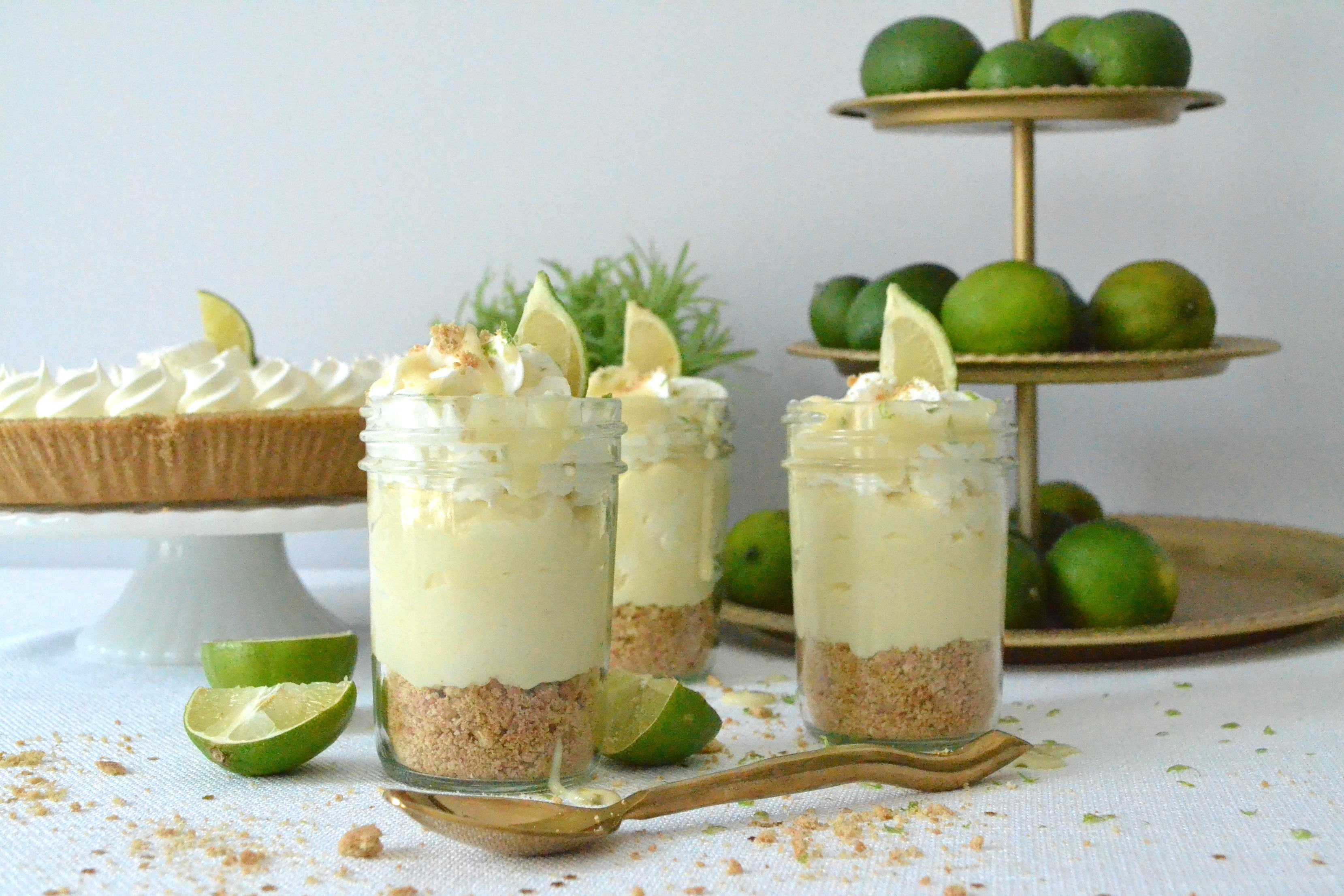Mason Jar Key Lime Sundae Trifles