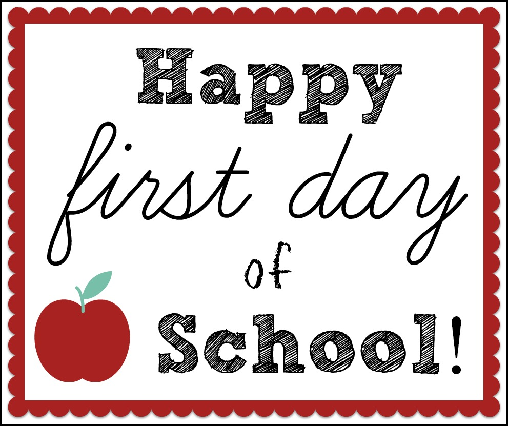 Free 1st Day of School Hang Tag Printable