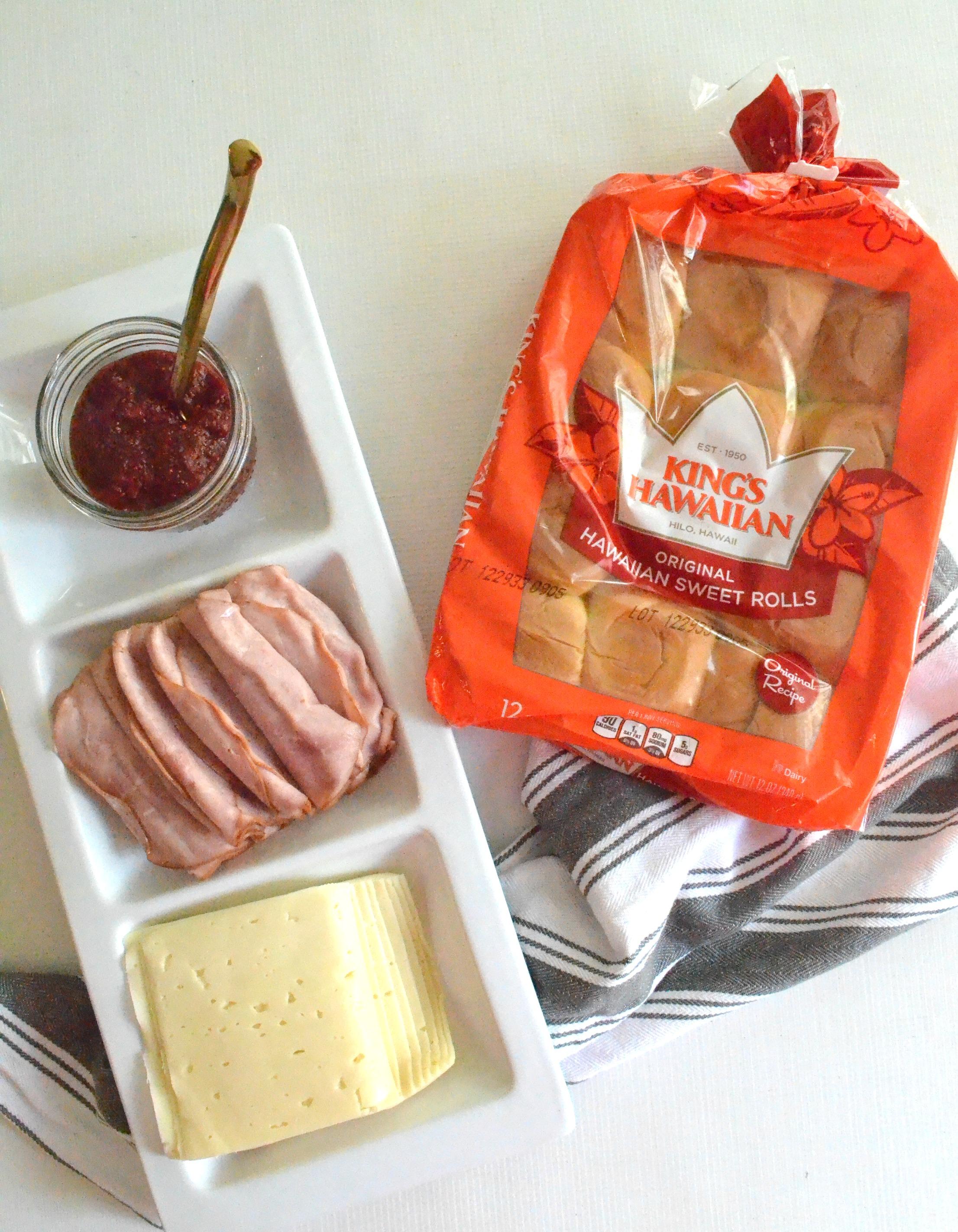 Mini Ham Jam Sandwiches