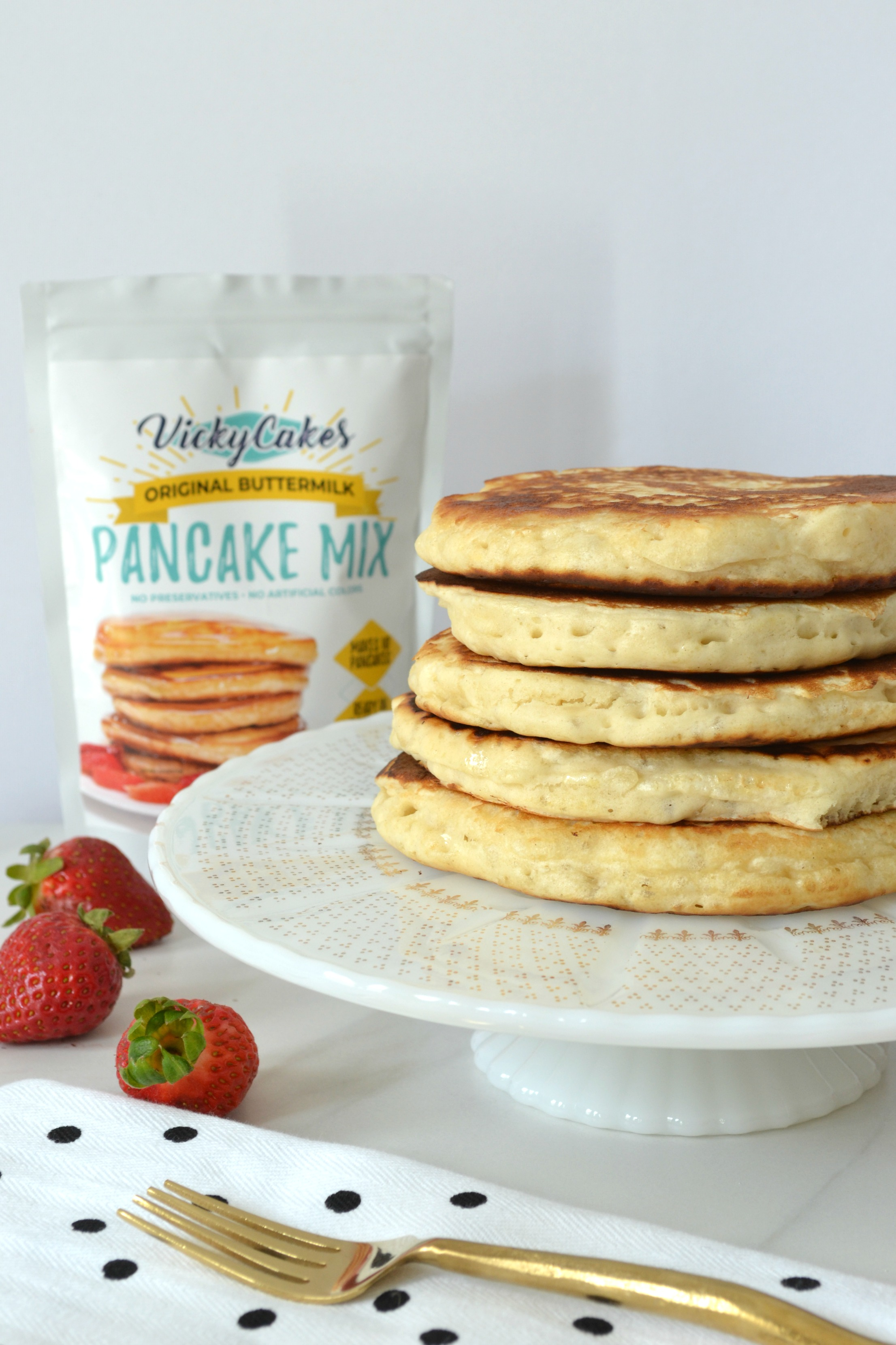 Easy Strawberry Compote + The BEST Pancake & Waffle Mix!