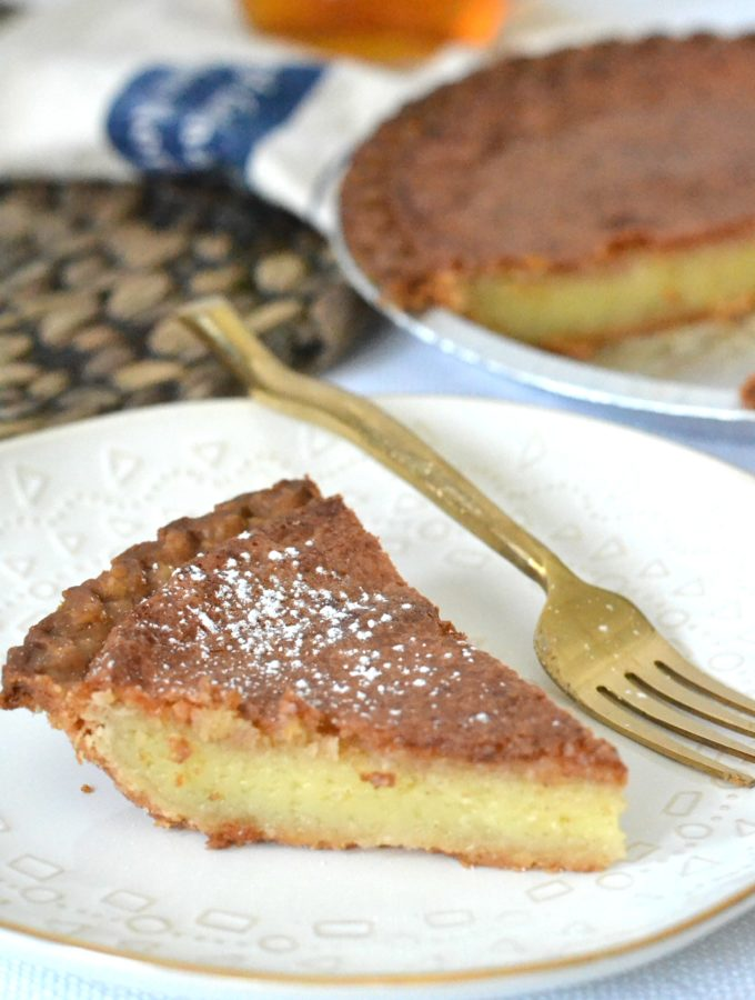 Old Fashioned Vinegar Pie - this old time classic was a product of The Great Depression Era, but it's custard like texture and sweet with a hint of tangy flavor profile is the reason it's forever here to stay! #vinegarpie #oldfashionedpie #pie