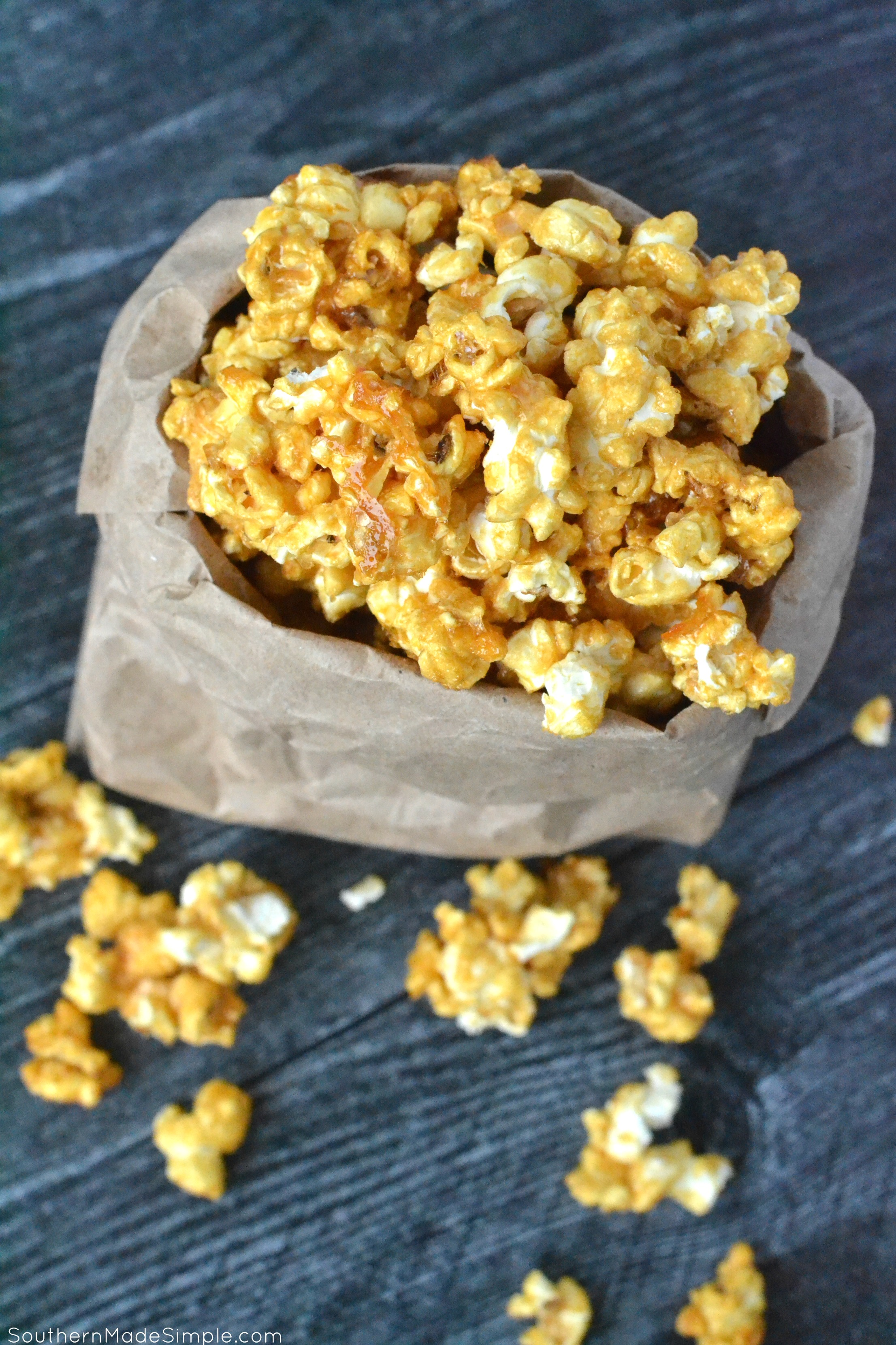 Caramel Apple Bourbon Popcorn