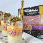 Cheesy Ham and Mashed Potato Trifles