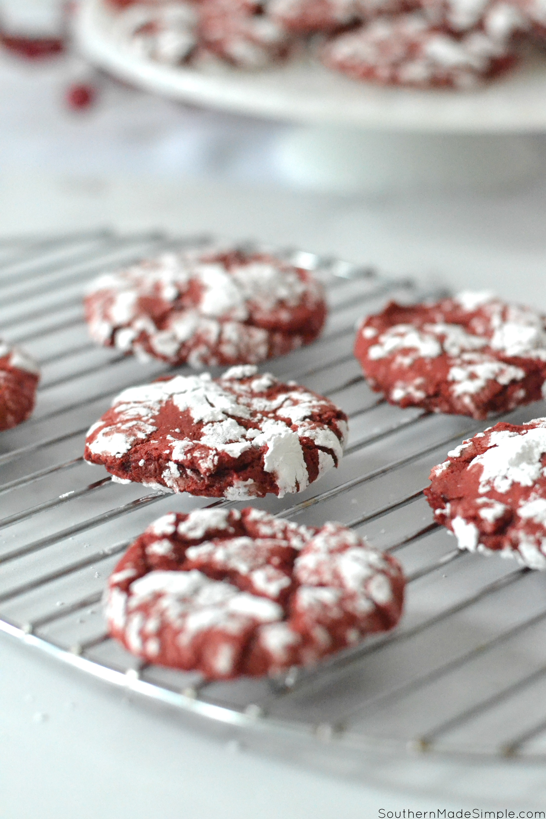 Red Velvet Christmas Crinkle Cookies