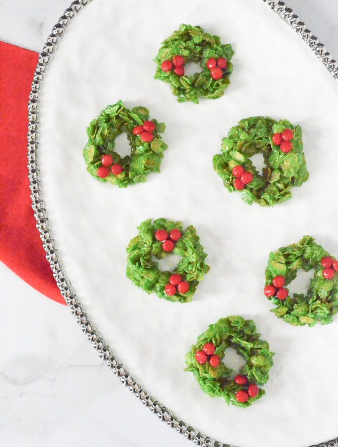 Cornflake Christmas Wreaths