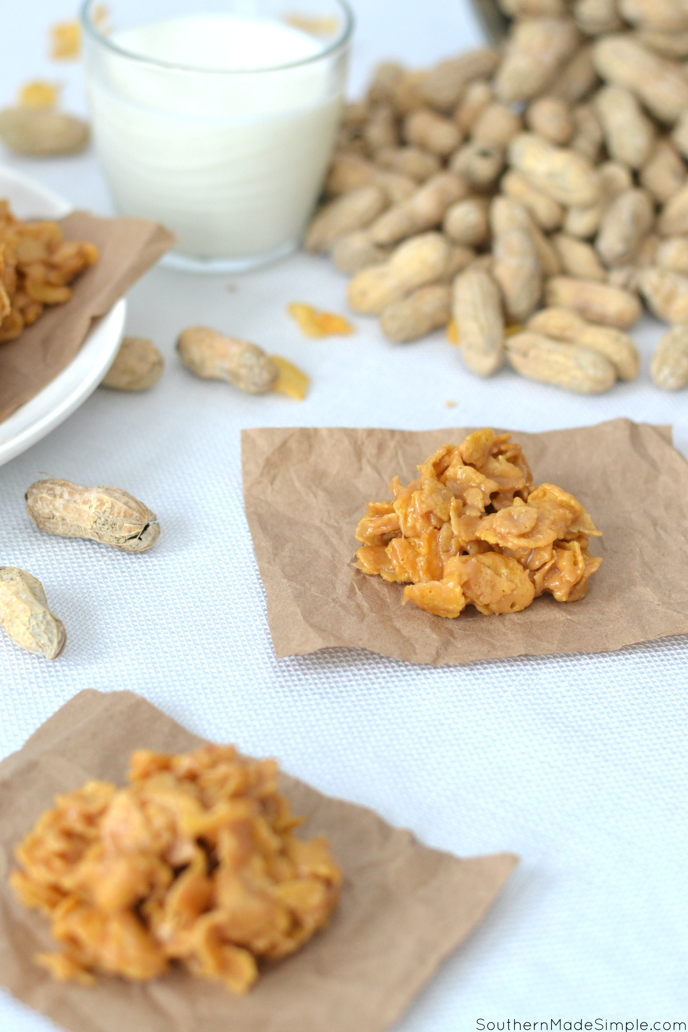 Peanut Butter Corn Flake Candy
