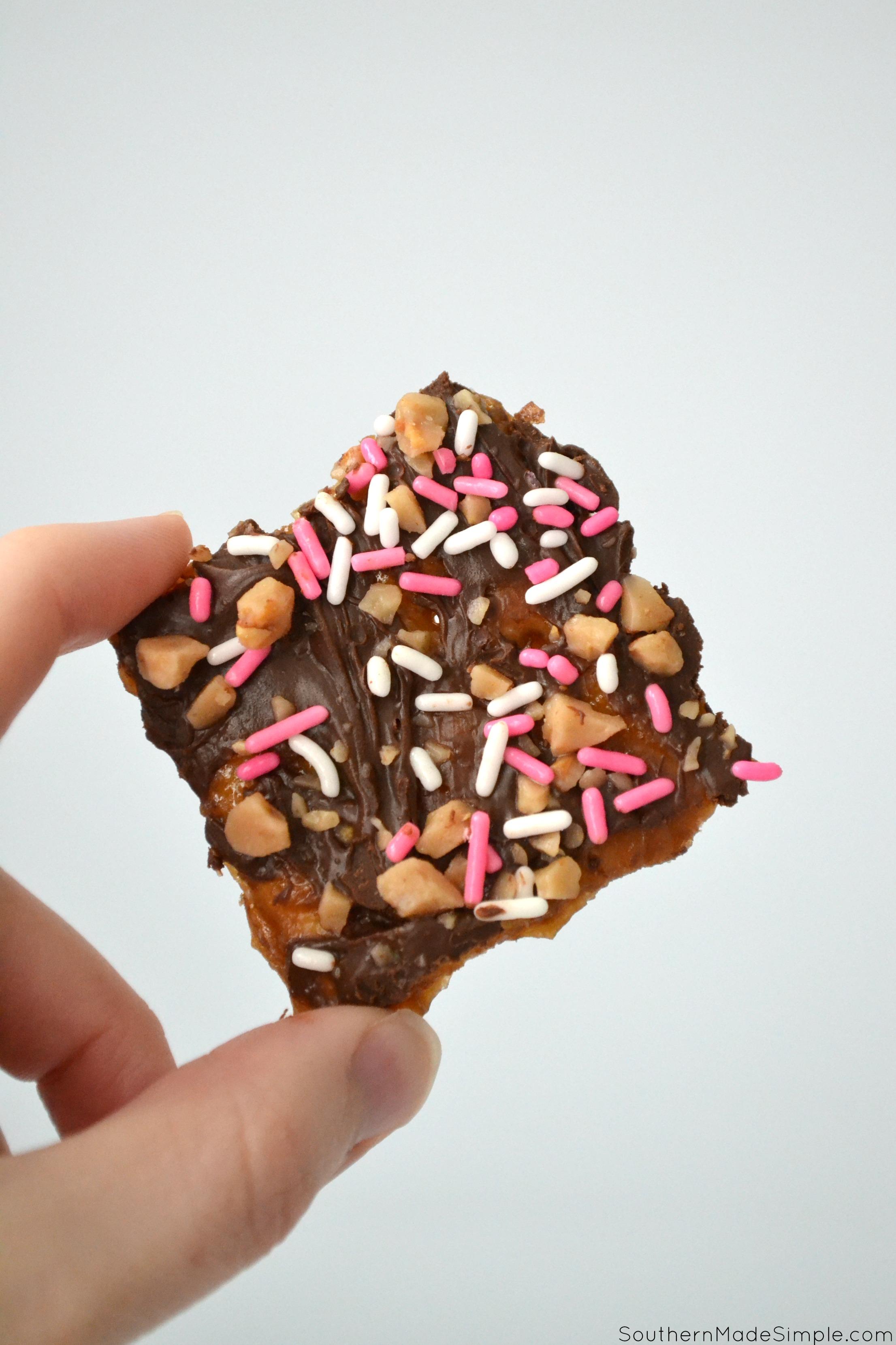 Valentine's Day Toffee Crunch Crackers