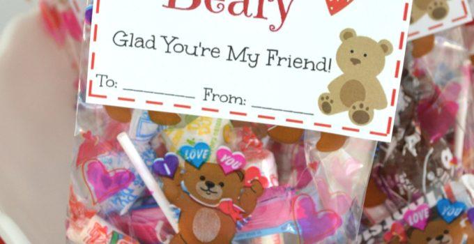 Free Printable: I'm Beary Glad You're My Friend Valentine