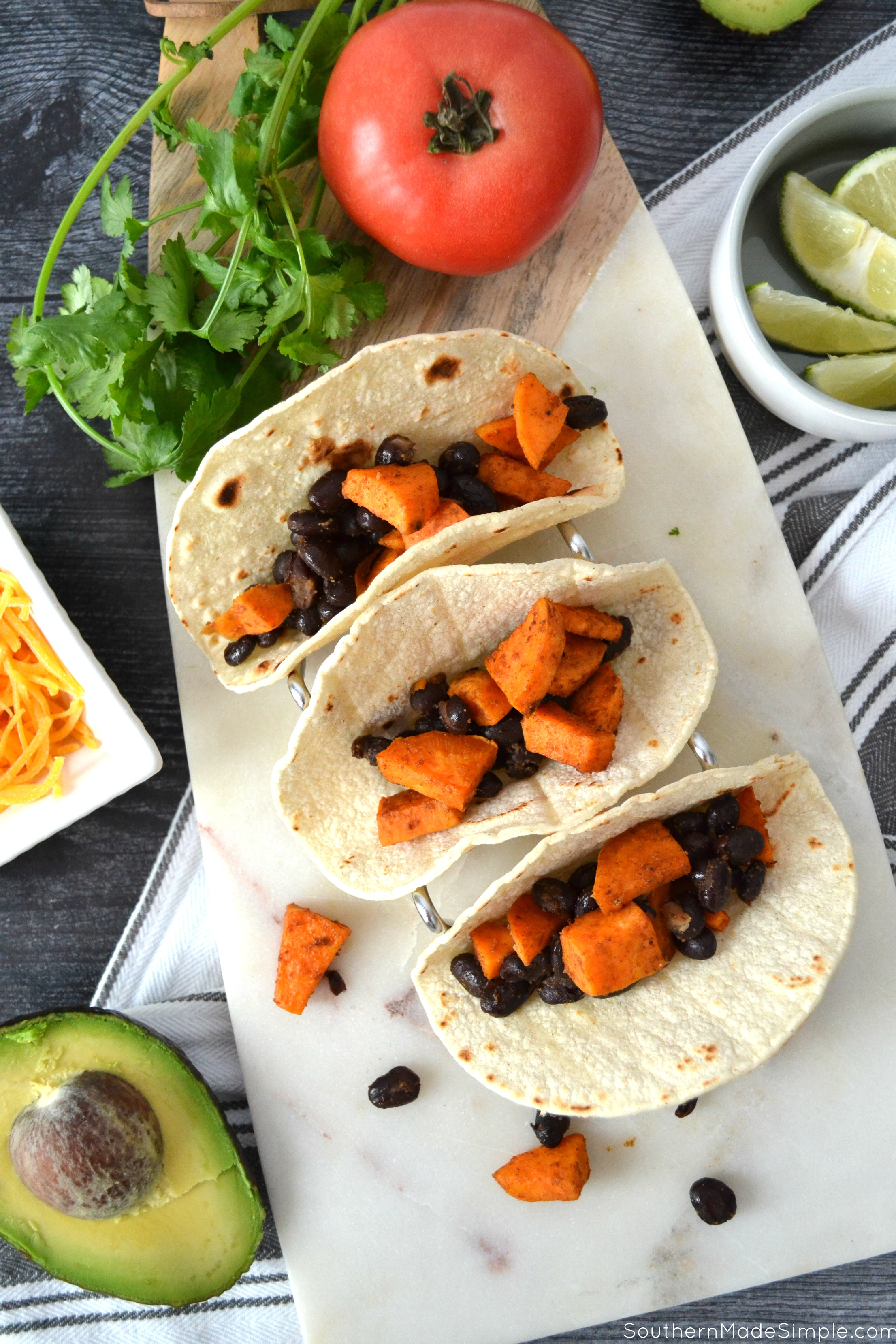 Sweet Potato & Black Bean Street Tacos