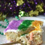 Mardi Gras King Cake Poke Cake
