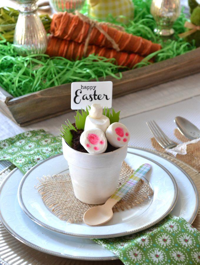 DIY Triple Chocolate Easter Bunny Dessert