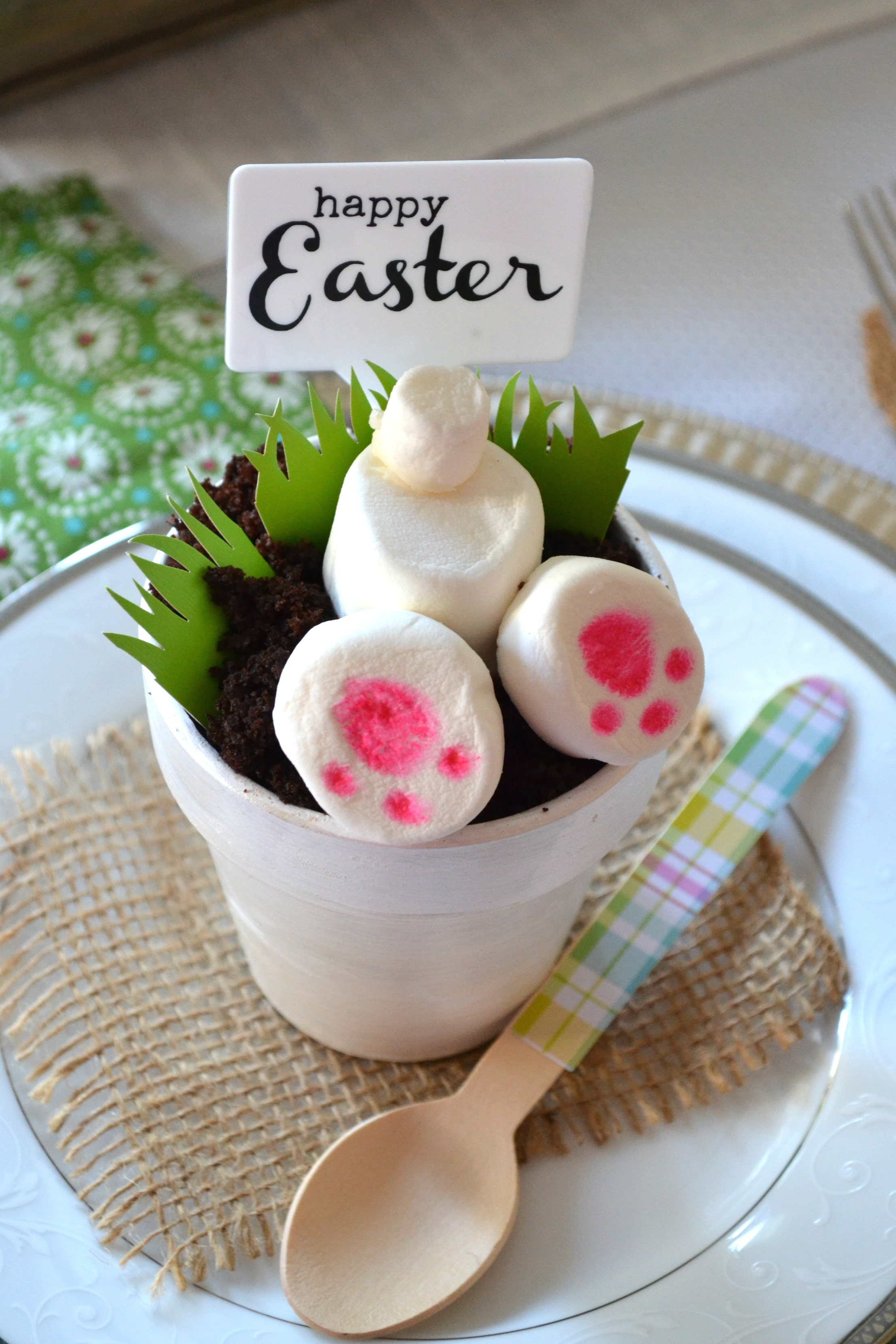 DIY Triple Chocolate Easter Bunny Dessert