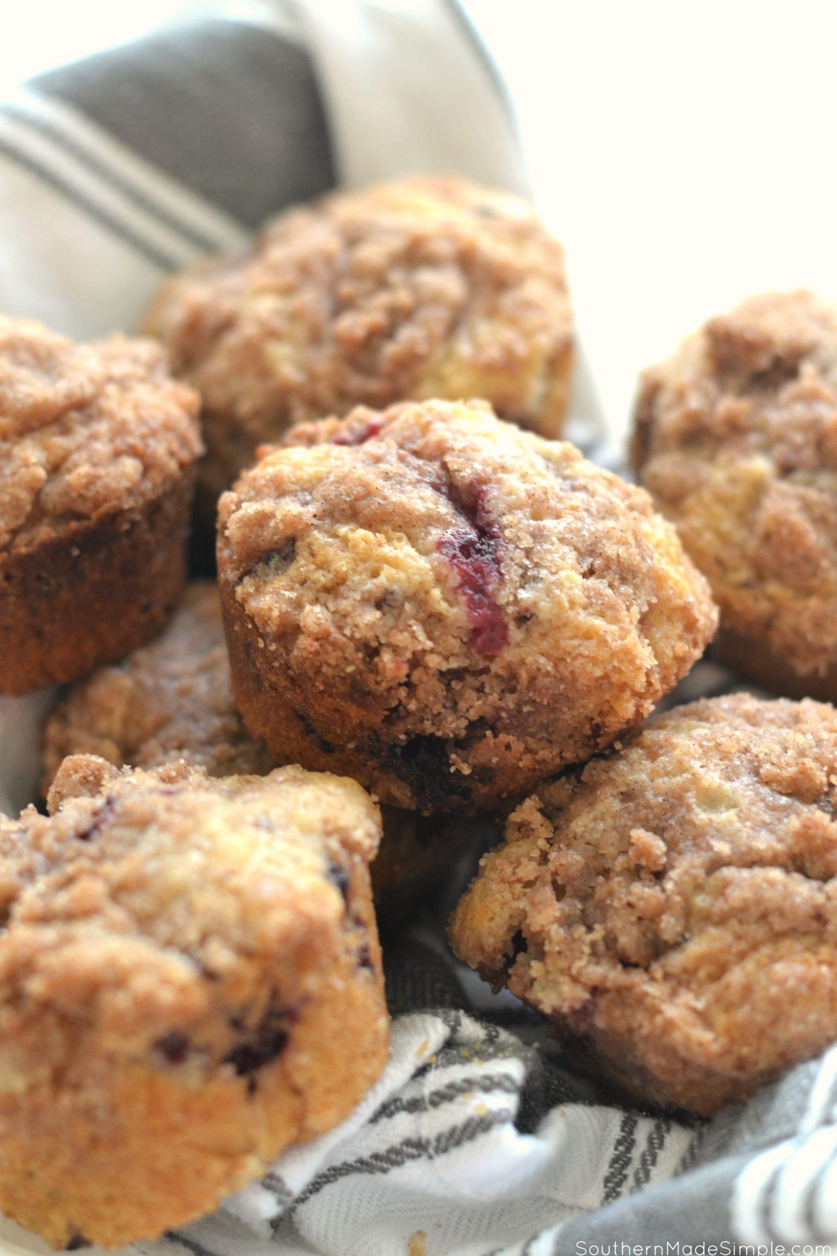 Dewberry Crumble Muffins