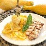 Yellow Squash Chicken Alfredo
