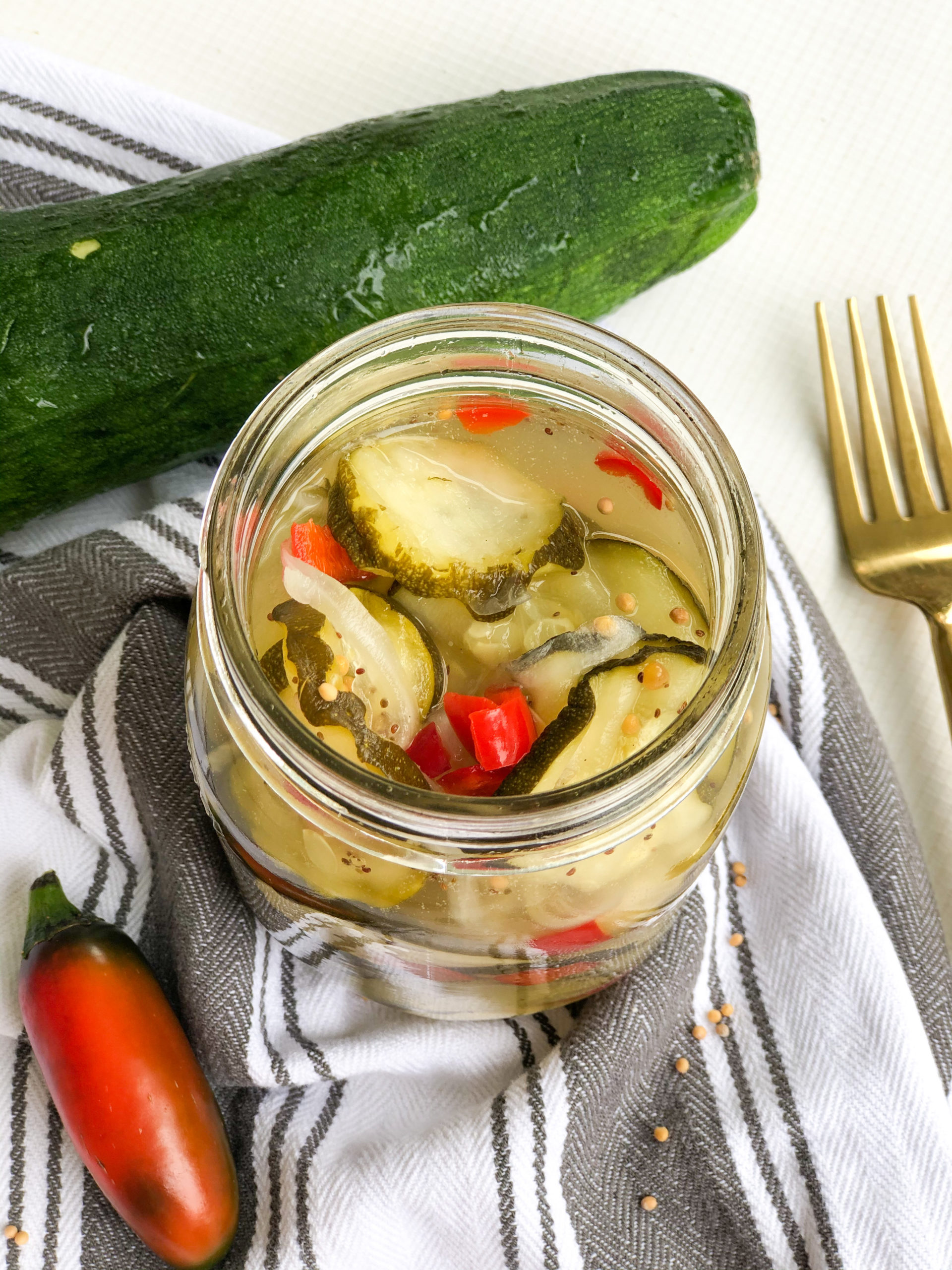 Sweet Heat Zucchini Pickles