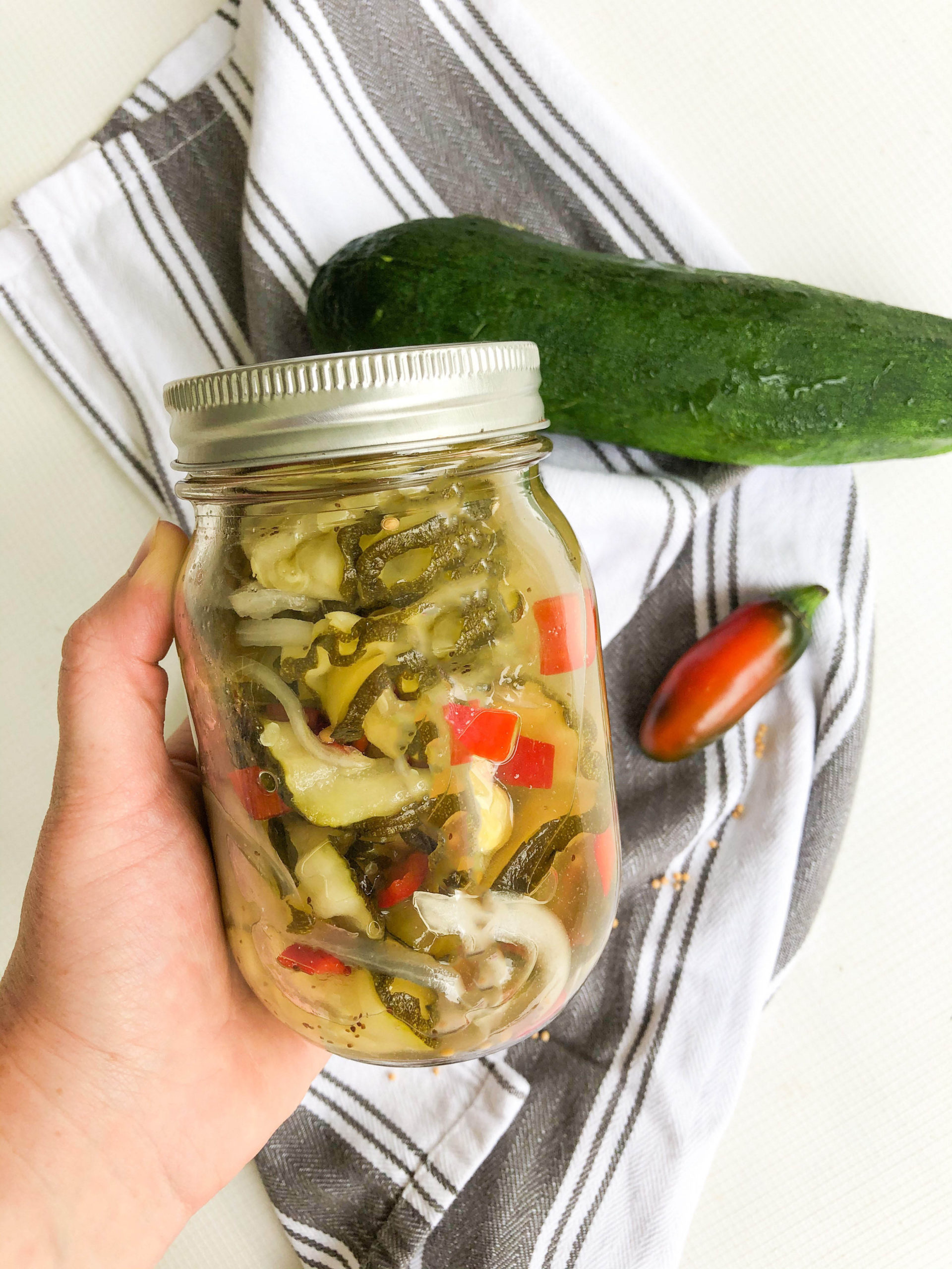 Sweet Heat Zucchini Pickles