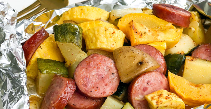 Creole Sausage and Vegetable Foil Pack Dinners