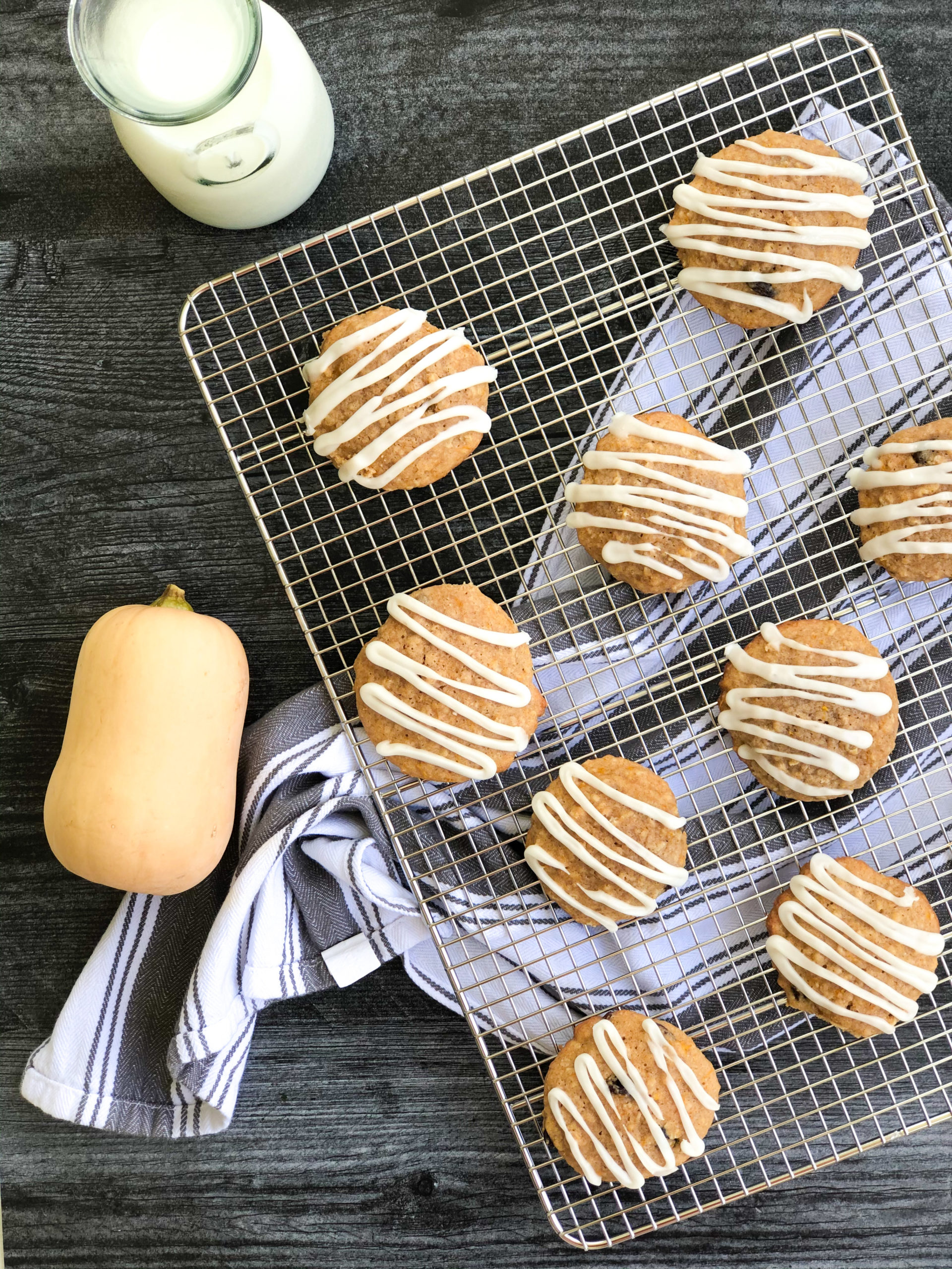 Butternut Squash Oatmeal Raisin Cookies