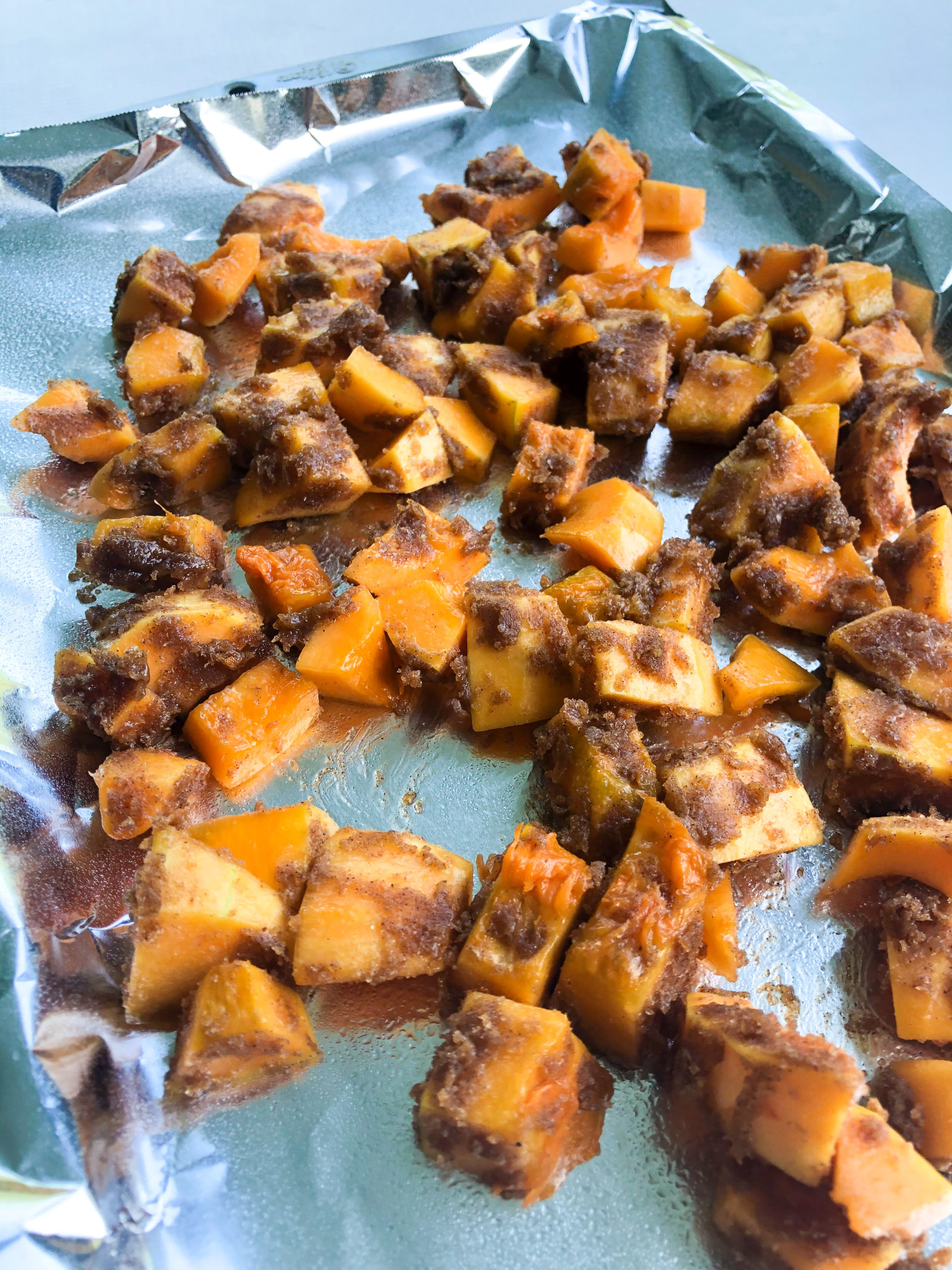 Brown Sugar Cinnamon Roasted Butternut Squash