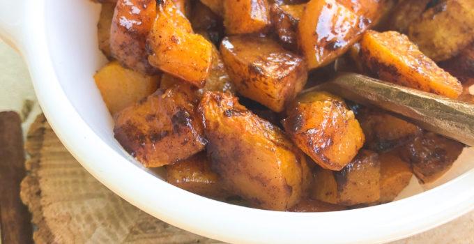 Brown Sugar Cinnamon Roasted Butternut Squash