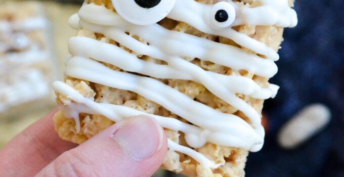Mummy Peanut Butter Rice Krispie Treats