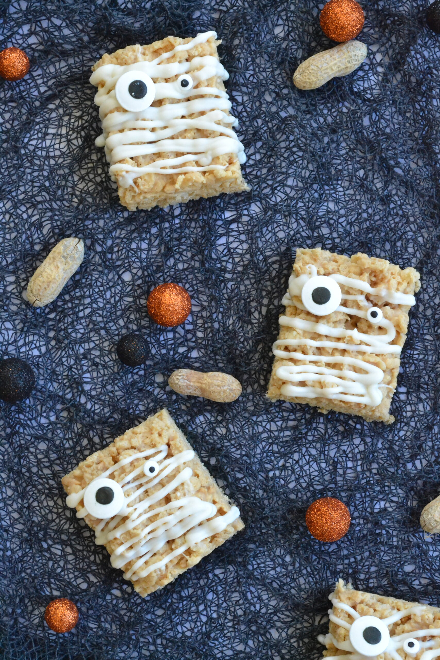 Mummy Peanut Butter Rice Krispie Treats