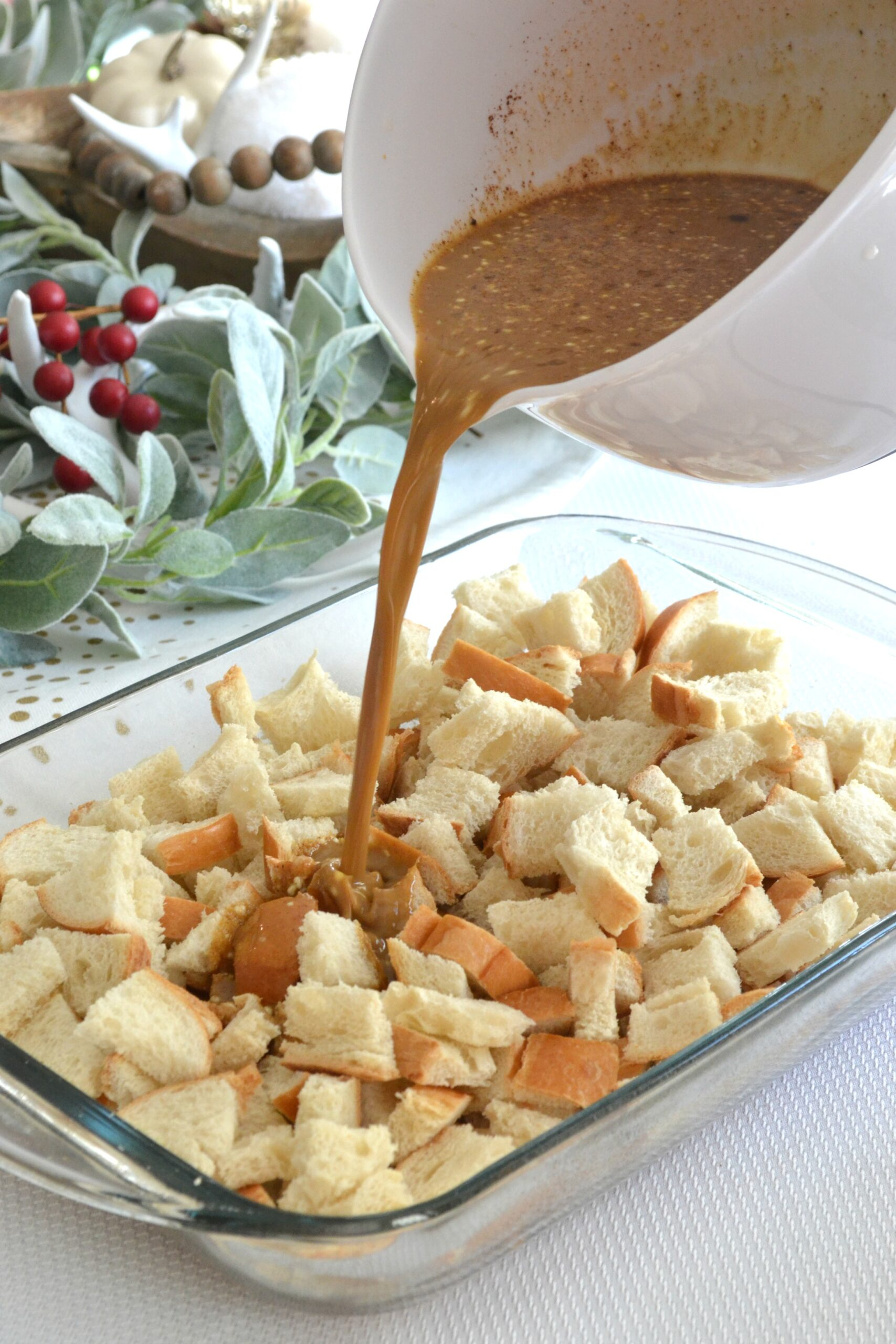 Overnight Gingerbread French Toast Casserole