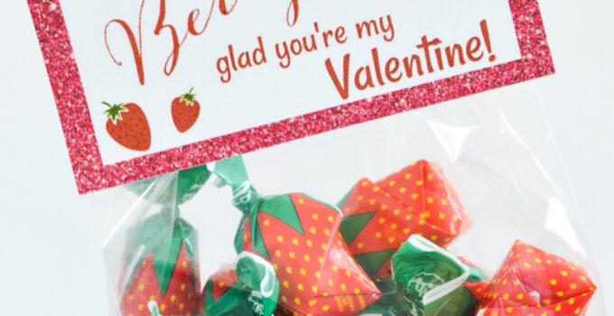 Free Printable: I'm Berry Glad You're My Valentine