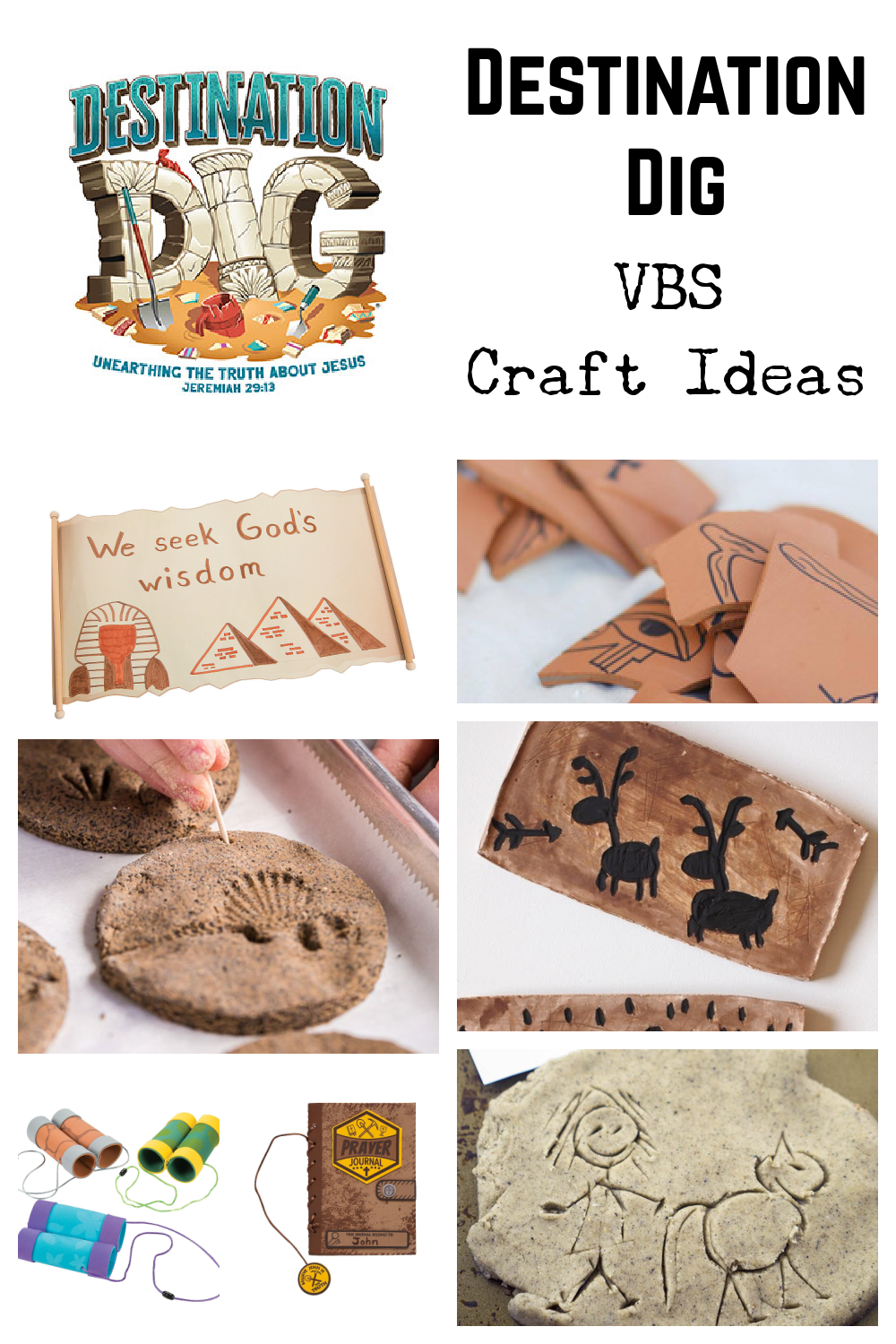 Destination Dig VBS Craft Ideas
