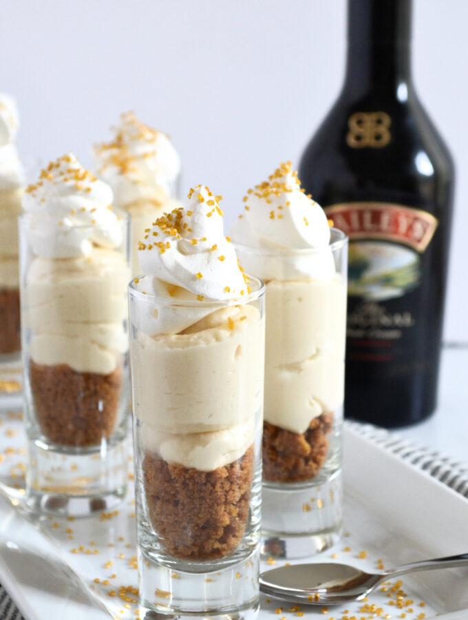 Bailey's No Bake Cheesecake Trifles