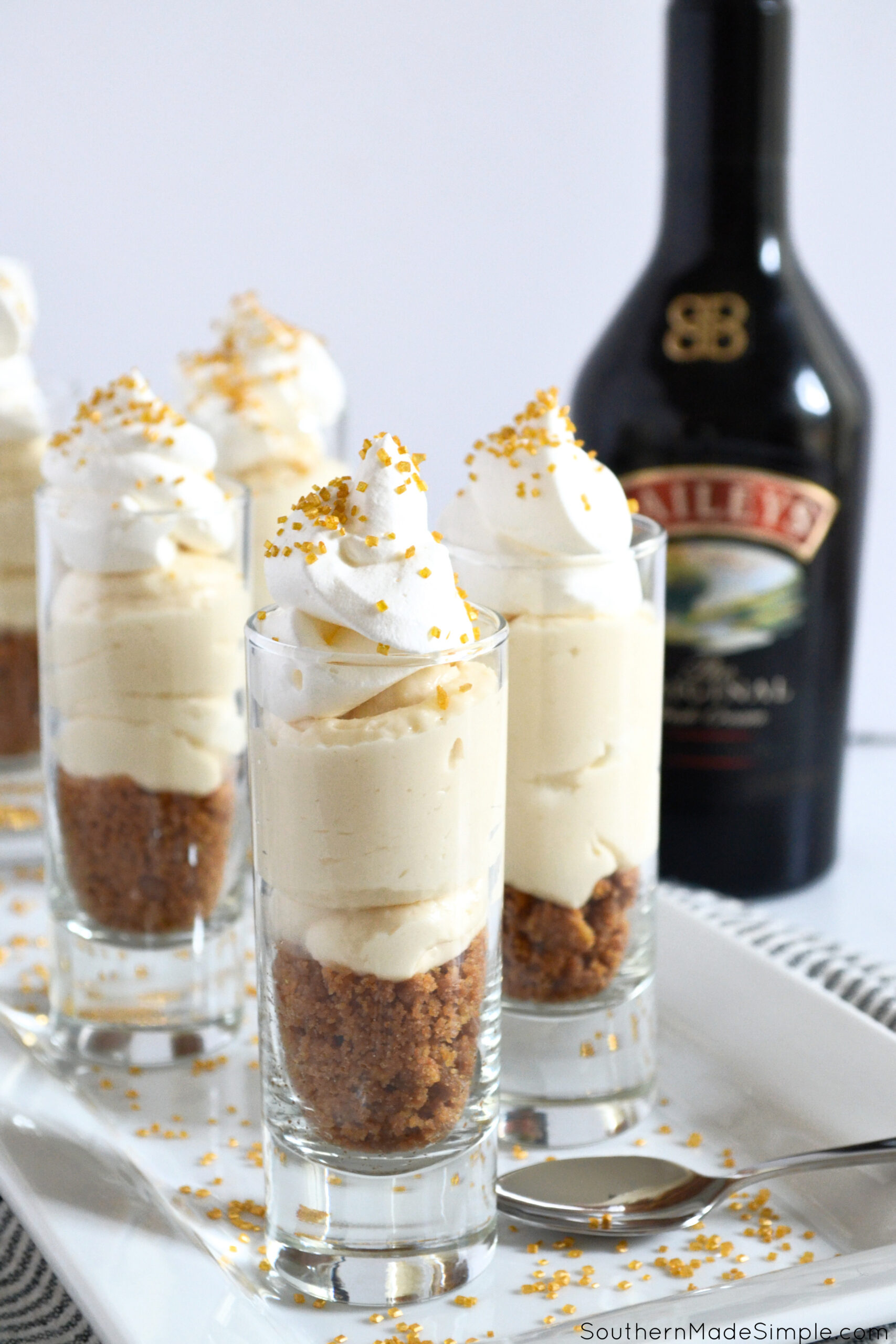 Bailey's No Bake Cheesecake Trifles
