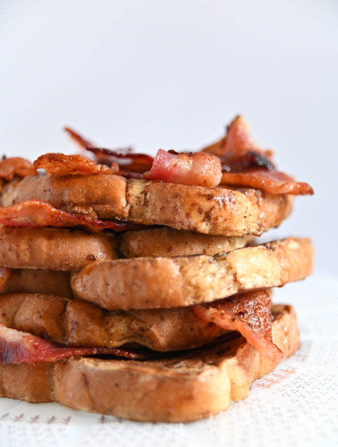 Father's Day Breakfast: Bacon Bourbon French Toast Stacks